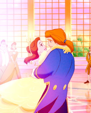 Princess Belle and the prince