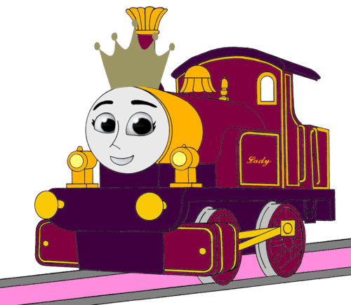 Thomas the Tank Engine karatasi la kupamba ukuta possibly with anime entitled Princess Lady (Mirrored)