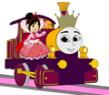 Princess Lady with Princess Vanellope and her Crown