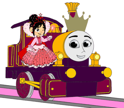 Tomy Thomas And Friends wallpaper possibly containing anime entitled Princess Lady with Princess Vanellope and her Crown