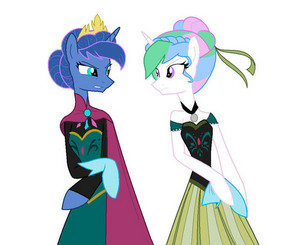 Princess Lun-Elsa and Princess Celesti-Anna