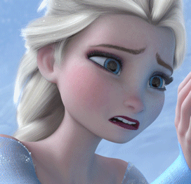 কুইন Elsa Crying for Princess Anna