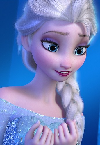 Frozen پیپر وال called Queen Elsa Smiling
