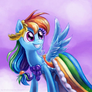 Rainbow Dash Gala Potrait