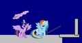 pelangi, rainbow Dash vs Twilight Sparkle