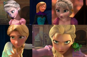 Rapunzel and Elsa edits
