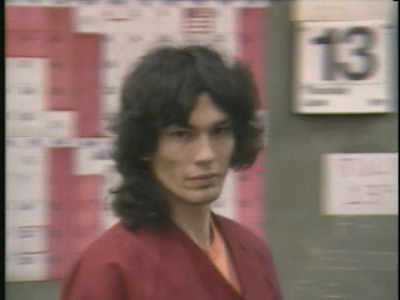 Serial Killers Hintergrund possibly with a portrait titled Richard Ramirez