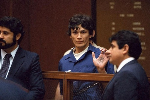 Serial Killers Hintergrund with a business suit, a suit, and a dress suit entitled Richard Ramirez