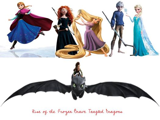 Rise of the Frozen Brave Tangled Dragons - Rise of the ... Frozen Tangled Brave
