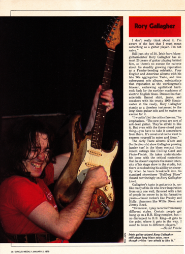 Rory Gallagher 바탕화면 probably with an electric 기타 and a guitarist called Rory Gallagher 기사