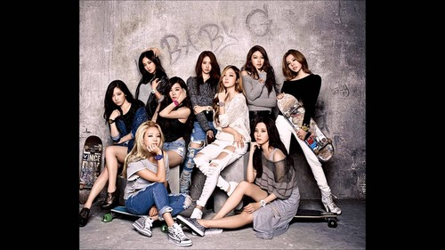 Girls Generation/SNSD wallpaper possibly with a sign called SNSD wallpaper
