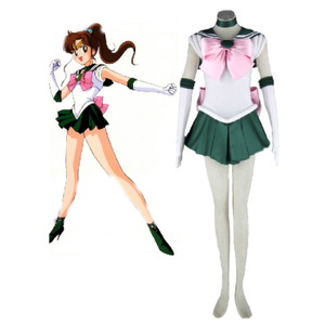 Sailor Moon Sailor Jupiter Kino Makoto Fighting Uniform Cosplay Costume