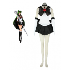 Sailor Moon Sailor Pluto Meiou Setsuna Fighting Uniform Cosplay Costume