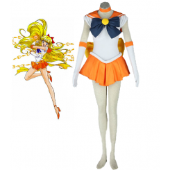 Sailor Moon Sailor Venus Minako Aino Fighting Uniform Cosplay Costume
