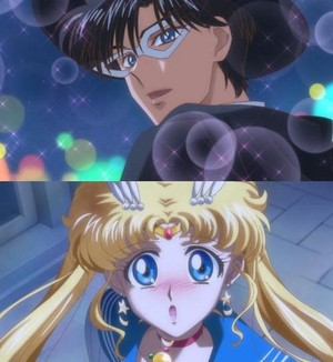 Sailor Moon and Tuxedo Mask - First Meeting
