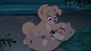 Scamp and Angel from Lady and the Tramp 2<3