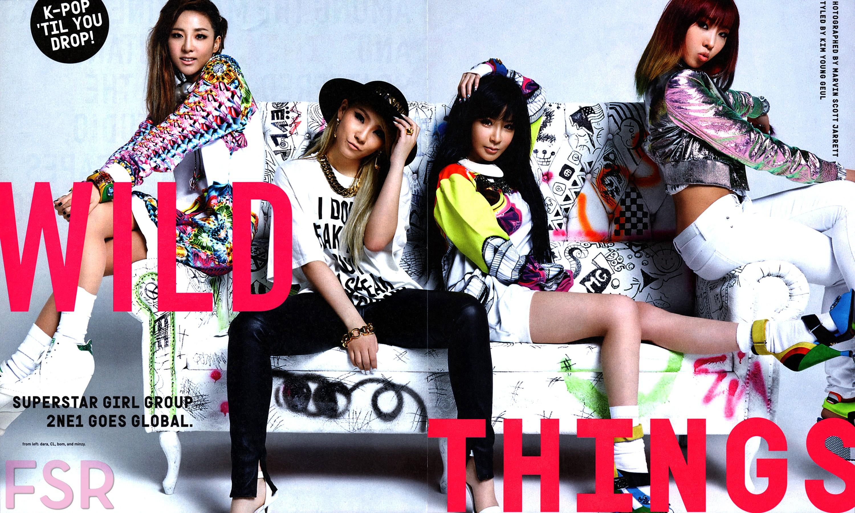 Scans of 2NE1 in Nylon USA