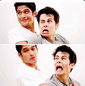 Scott and stiles. Funny faces