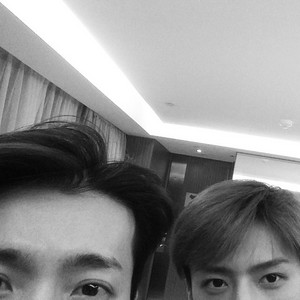 Sehun 140630 Instagram Update: Goodnight ...with DH