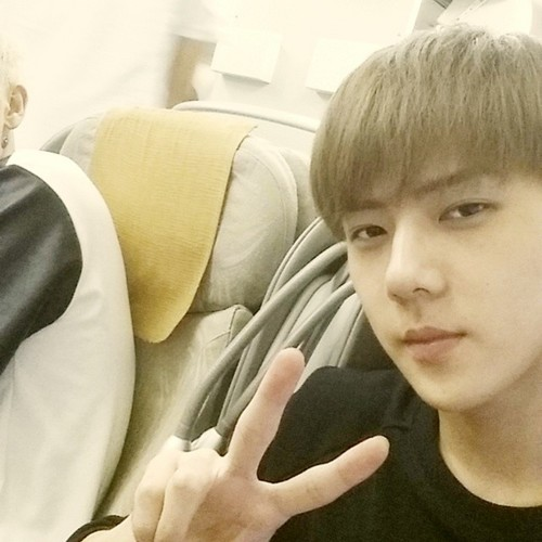 EXO-K wallpaper titled Sehun 140704 Instagram Update: 😐
