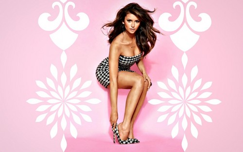 Nina Dobrev wallpaper probably containing a bustier, attractiveness, and a swimsuit titled Sexy Nina