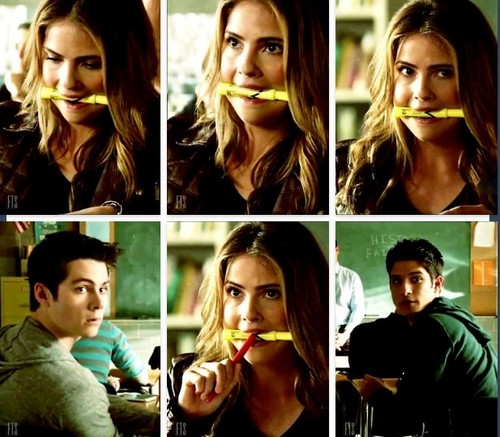 Malia Tate 壁紙 possibly with an ice lolly, a flute, and a flutist called She's so cute with that yellow highlighter