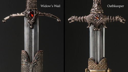 Game of thrones images showcase of on screen items from season 4 hd game of thrones wallpaper containing a claymore a dirk and a falchion titled showcase voltagebd Images