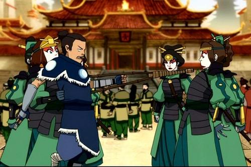 Avatar le dernier maître de l'air fond d'écran titled Sokka and Suki