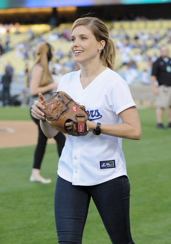 Chicago PD (TV Series) wallpaper possibly with a wicket, an umpire, and a bowler titled Sophia Bush