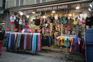 Souvenir Store In Paris, France
