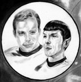 Spock and Kirk - star-trek fan art