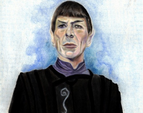bituin mangibang-bayan wolpeyper titled Spock of Vulcan