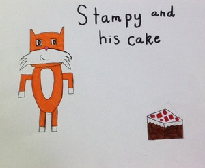 Stampy and his cake