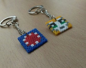 Stampy and squid key rings