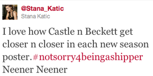Stana about Caskett(July,2014)