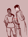 Star Trek AU  - spock-and-uhura fan art