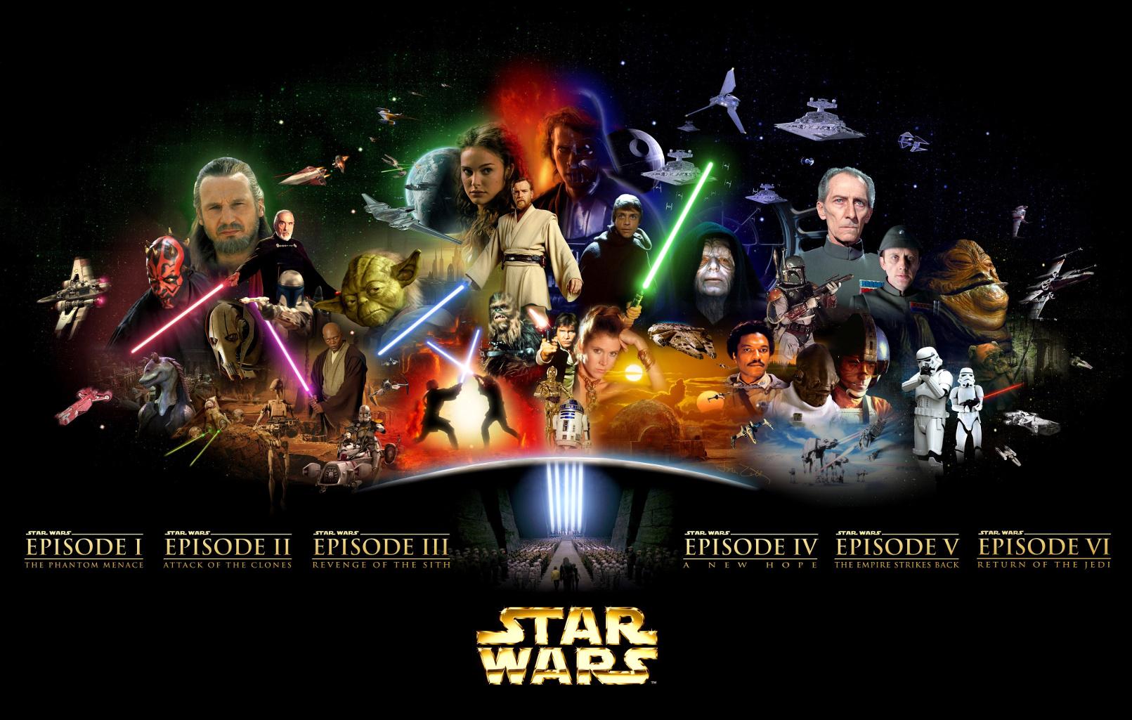 star, sterne Wars all series