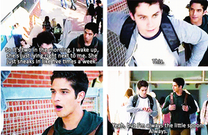 Stiles telling Scott about Malia