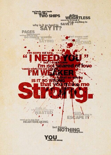 one direction wallpaper entitled Strong Lyrics