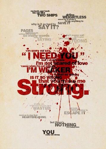 वन डायरेक्शन वॉलपेपर entitled Strong Lyrics