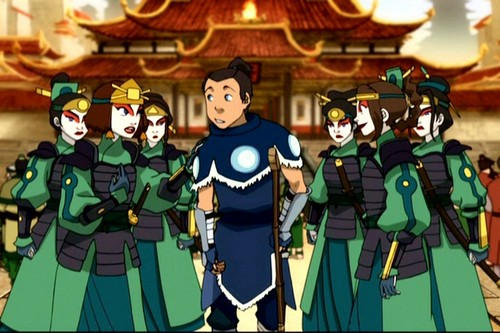 Awatara - ang Huling Airbender wolpeyper possibly with a green beret, a navy seal, and panlabang uniporme titled Sukka and Suki