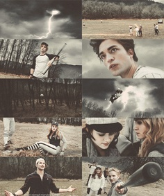The Cullens playing baseball