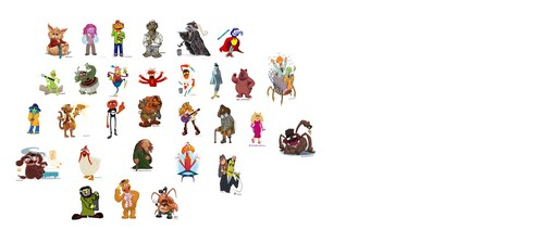 The Muppets wallpaper called The Gang's All Here