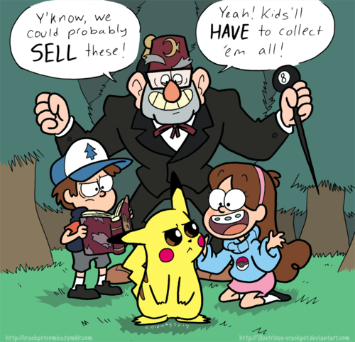 gravity falls fondo de pantalla with anime titled The Pines family comes across pikachu