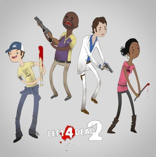 Left 4 Dead 2 fond d'écran titled The Survivors | Adventure Time Style