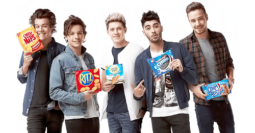 One Direction wallpaper probably with long trousers titled The boys for Nabisco.