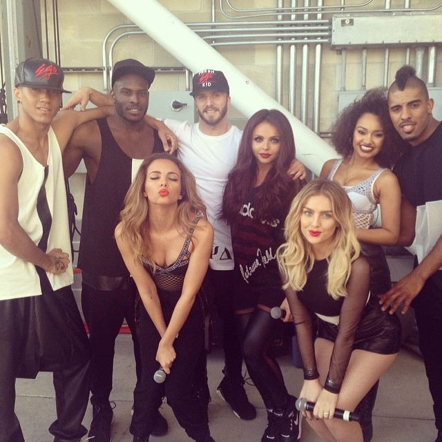 The girls and their dancers yesterday
