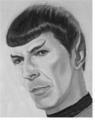 "The name of this piece is ""Spock""   - star-trek fan art"