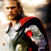 Chris Hemsworth 사진 probably with a 소매 없는 느슨한 상의, 휘장 and a surcoat, 외투 entitled Thor: The Dark World