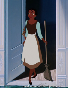 Tiana in Cinderella's Servant Dress